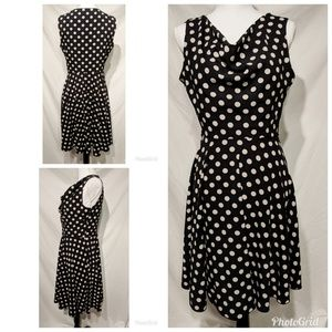 Enfocus Studio Polka Dot Black Dress Size 10